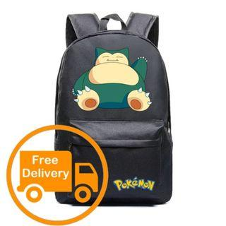 Snorlax Pokemon Backpack School Bag