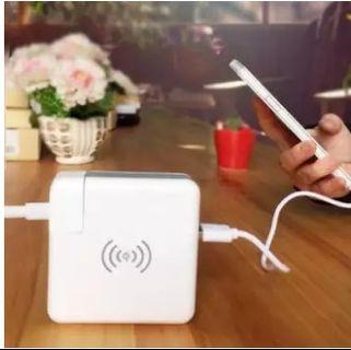 New three-in-one wireless charging treasure mobile phone travel super charger wireless charging mobile power