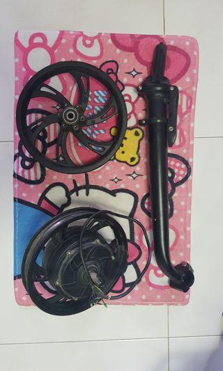 Dyu stem pole, front rims and rear motor 250w.