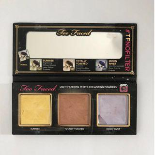 Too Faced #TFNoFilter Selfie Powders  | Highlight & Contour Powders