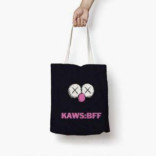 KAWS: BFF BLACK/NAVY TOTEBAG