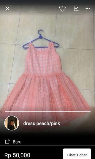 Dress pink , baju pink