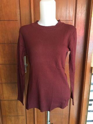 Maroon Top Sweatshirt