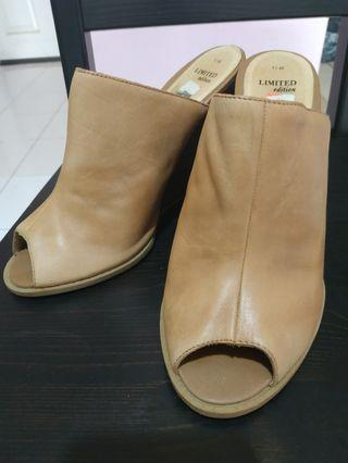 New Look Leather Wedges