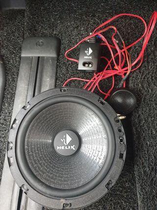 Helix 2 way speaker system. Sounds fantastic!