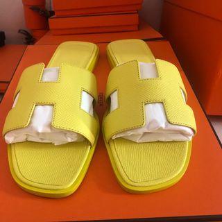 🚚 BNIB Hermes sandals lime 37
