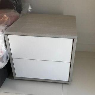 [Brand New] Bedside table with drawers
