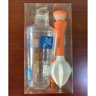 Plastic Cocktail Shaker set with recipes on the side