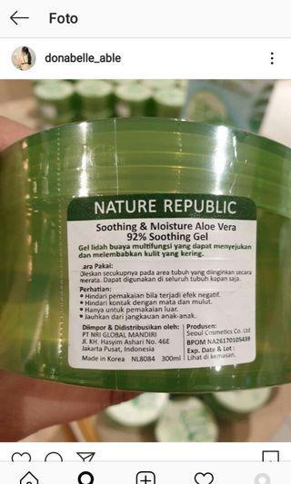 Nature republic aloe vera gel bpom