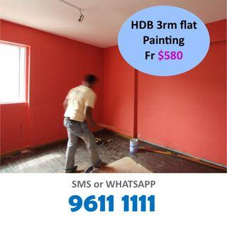 Painting 3 room flat best rates
