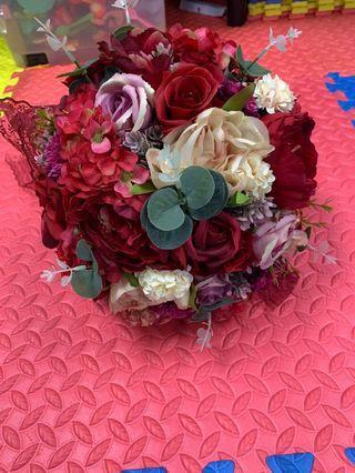 (婚後物資) flower ball wedding 結婚婚禮花球