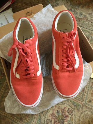 Vans Suede Spiced Coral Old Skool Sneakers