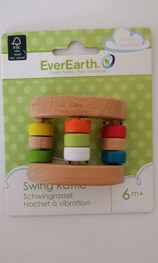 EverEarth Wooden Baby Rattle