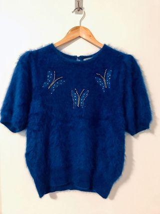 Vintage Angora Knit M