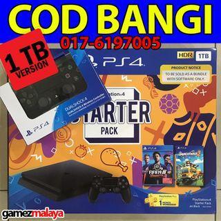 [NEW] PS4 SLIM 1TB STARTER PACK 2 CONTROLLER - (GAMEZMALAYA)