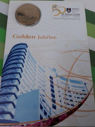 Coin card 50 Tahun UiTM Golden Jubilee