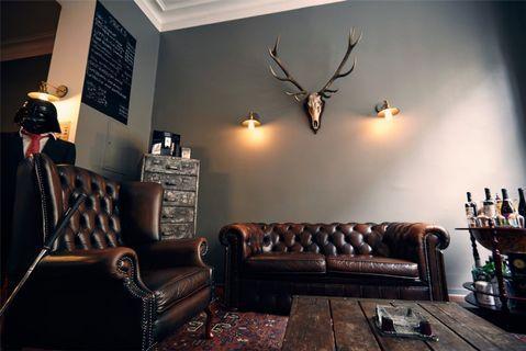 leather brown sofa &  Armchair