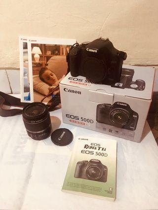 Reprice : DSLR Canon 500d + kit 18-55