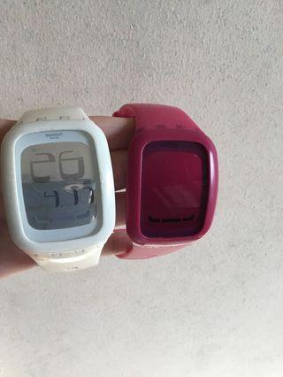 Swatch Pink and White watches