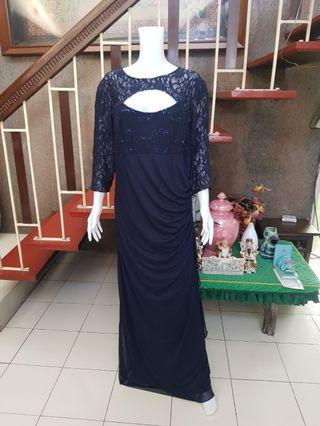 Navy Blue Gown size 20