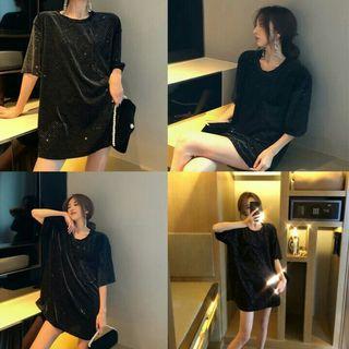(INSTOCK) Oversized Black Tshirt Dress