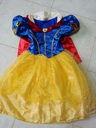 Disney 白雪公主裙 正版 S碼