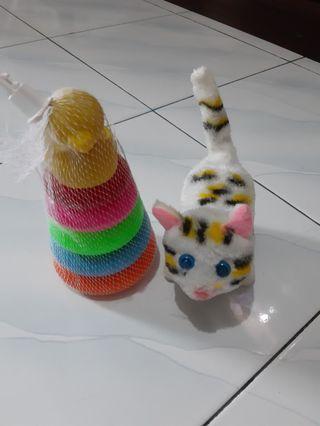 Kucing kucingan + Donat Bebek
