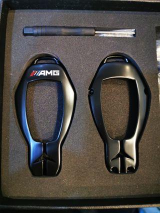 Benz鑰匙殼 (消光黑)
