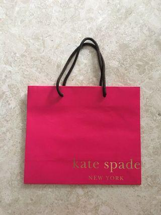 PL Kate Spade New York Pink Paper Bag/Paperbag