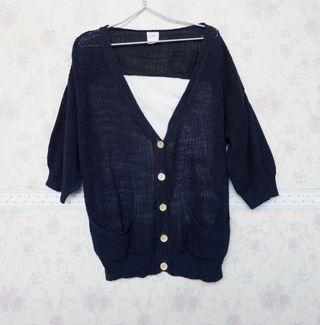 Cardigan Rajut Navy Knit & Co