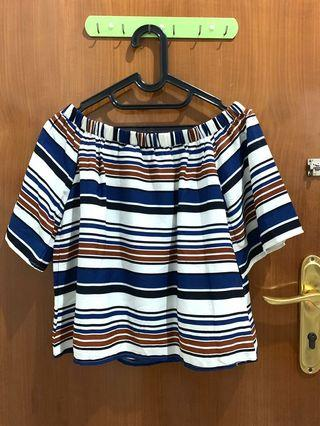 Sabrina stripe top