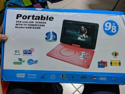 Portable DVD Player 9.8inc