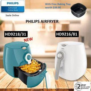 PHILIPS]Philips AirFryer Viva Collection HD9216/21 white / HD9218 Misty Dawn with 2 years warranty
