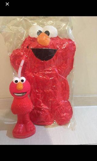 🚚 Elmo Soft Toy n water bottle