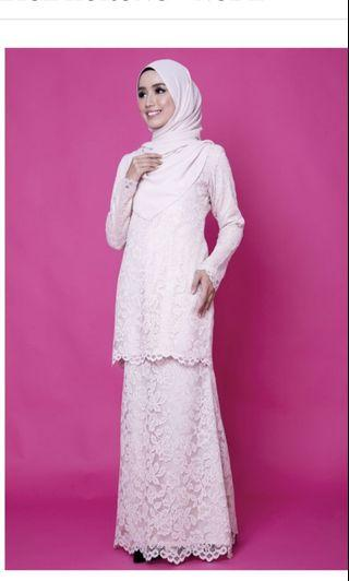 Priti Lace Kurung by hajuwaboutique
