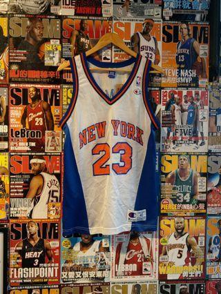 Vintage Champion NBA 紐約尼克 Camby 勉族