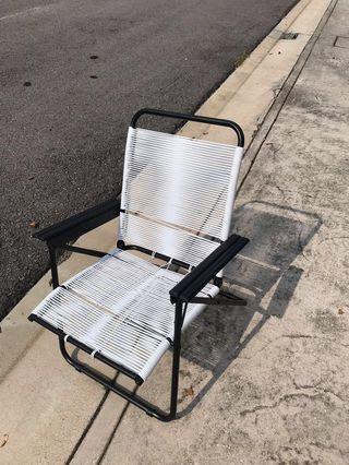 Modern Retro Designer Lazy Chair White