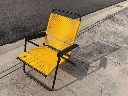 Modern Retro Designer Lazy Chair Yellow
