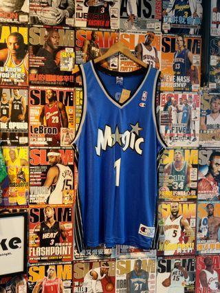 Vintage Champion NBA 奧蘭多魔術 McGrady TMac 客場球衣