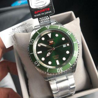 💚🖤💚Seiko 5 Automatic Hulk Diver 200m SRPB93 Made in Japan 🇯🇵 with FREE DELIVERY 📦