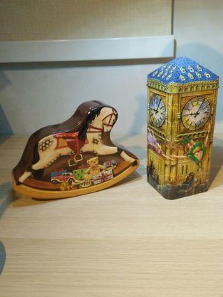 Rocking Horse and Peter Pan tins