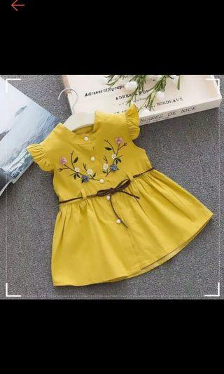 Dress kuning bunga