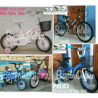 """Brand New Kid / Children / Boy / Girl Bicycles, from $109 * 12, 14, 16,18 and 20 available"""""""