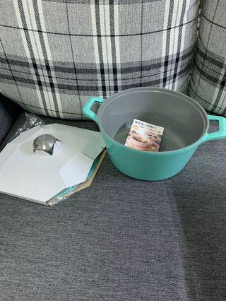🚚 NEOFLAM 24cm 湯鍋 蒂芬妮藍+陶瓷塗層蓋子