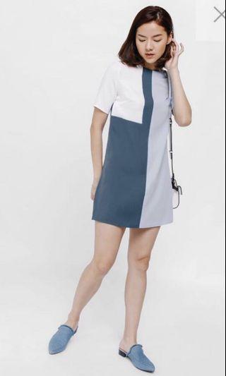 🚚 Love bonito adarie color block shift dress