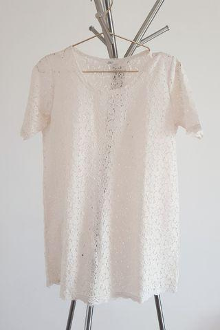Cream Lace Top (Long top)