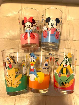 Disney Micky Minnie 玻璃杯
