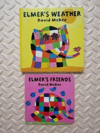 Elmer board books (2 books per set)