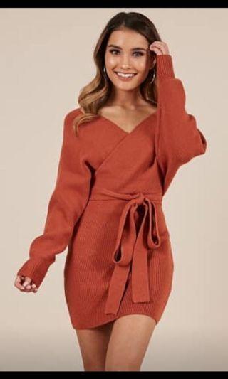 Runway scout knit dress rust