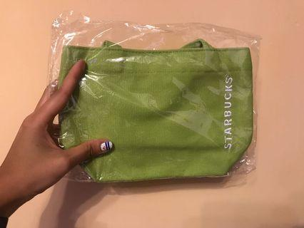 (全新未用過)Starbucks綠色環保lunch bag/小袋